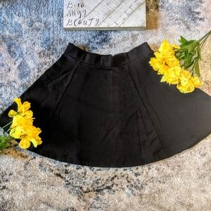 Divided size small juniors black skirt stretch